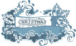 Merry Christmas emblem Royalty Free Stock Photos