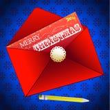 Merry Christmas envelope background Stock Photos