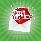 Merry Christmas Envelope Royalty Free Stock Photos