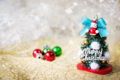Merry Christmas Everybody`s joy in December. With beautifully de stock image