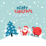 Merry Christmas Everyone Illustration Stock Photos