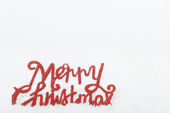 Merry Christmas and fake snow Royalty Free Stock Images