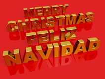 Merry Christmas Feliz Navidad Royalty Free Stock Photos