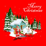 Merry Christmas festival celebration background. Vector design of Merry Christmas festival celebration background Royalty Free Stock Photography