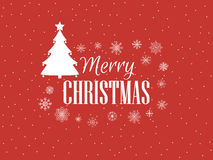Merry Christmas. Festive background with snowflakes and Christmas tree. Vector Royalty Free Stock Photo