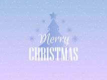 Merry Christmas. Festive background with snowflakes and Christmas tree. Vector Stock Images