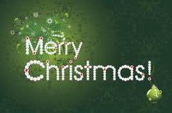 Merry Christmas. Festive card. Illustration Royalty Free Stock Photos