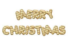 Merry Christmas festive letters Stock Images