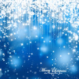 Merry Christmas Festive Sparkle Background. Christmas sparkle background, blue magic shiny Christmas card Royalty Free Stock Photography