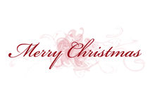Merry Christmas. Festive Wishes Illustration Royalty Free Stock Photo