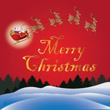 Merry christmas festivity. Merry christmas with santa claus and red background royalty free illustration