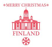 Merry Christmas Finland Royalty Free Stock Photo