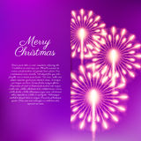 Merry Christmas fireworks. Vector illustration. Beautiful design Royalty Free Stock Image