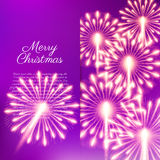 Merry Christmas fireworks. Vector illustration. Beautiful design Royalty Free Stock Images