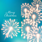Merry Christmas fireworks Stock Photos