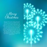 Merry Christmas fireworks. Vector illustration. Beautiful design Royalty Free Stock Photos