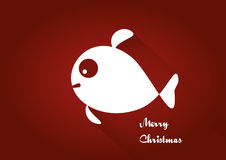 Merry Christmas fish card Stock Image