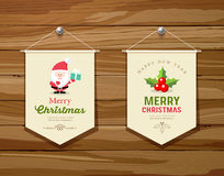 Merry Christmas flag concepts design collections Royalty Free Stock Photos