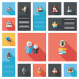 Merry Christmas flat app ui background,eps10 Stock Photos