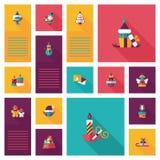 Merry Christmas flat app ui background,eps10 Stock Images