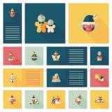 Merry Christmas flat app ui background,eps10 Royalty Free Stock Image