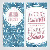 Merry Christmas flayers. Merry Christmas and Happy New Year flayers Stock Photos