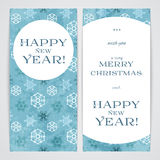 Merry Christmas flayers. Merry Christmas and Happy New Year flayers Royalty Free Stock Photo