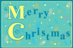 Merry Christmas with floral pattern Stock Image