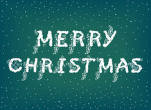 Merry Christmas with floral pattern Royalty Free Stock Image