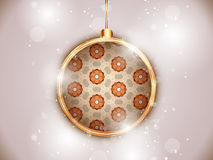 Merry Christmas Flower Balls with Retro Background Royalty Free Stock Photos