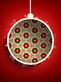 Merry Christmas Flower Balls Retro Background Stock Image