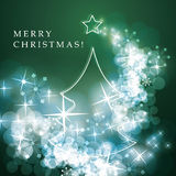 Merry Christmas - Flyer or Cover Design Stock Photo