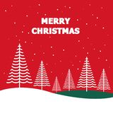 MERRY CHRISTMAS FOREST VECTOR stock illustration