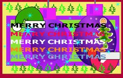 Merry Christmas forever and forever. Royalty Free Stock Images