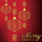 Merry Christmas. Formal Christmas filigree card in vector format Stock Photo