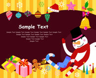 Merry christmas frame Stock Images