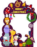 Merry christmas frame Royalty Free Stock Photos