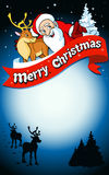 Merry christmas frame Royalty Free Stock Images
