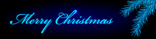 Merry Christmas frame. Vector blue Merry Christmas frame Stock Image