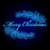 Merry Christmas frame with fir. Vector Merry Christmas frame with fir Stock Illustration