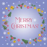Merry Christmas frame. Holiday banner Stock Photo