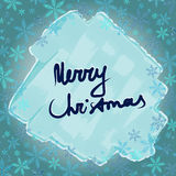 Merry Christmas. Frame with snowflakes and ice. Royalty Free Stock Photography