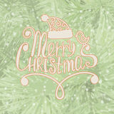 Merry Christmas. Frame on spruce Background. Royalty Free Stock Photography