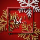 Merry Christmas. French inscription. Joyeux Noel. Stock Images