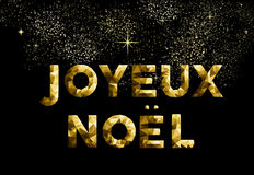 Merry christmas french joyeux noel france country Stock Photography