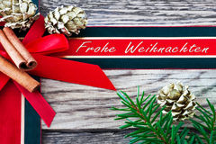 Merry Christmas - Frohe Weihnachten Stock Photography
