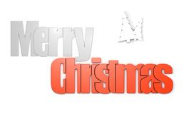 Merry Christmas front view Royalty Free Stock Image