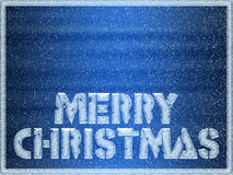 Merry Christmas frozen background Stock Photo