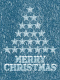 Merry Christmas frozen background Royalty Free Stock Image