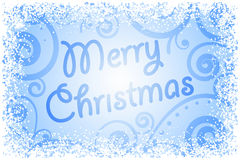 Merry Christmas on frozen window Royalty Free Stock Images
